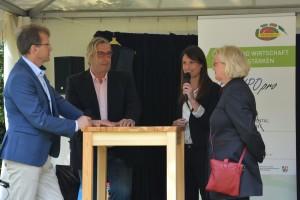 Interviews mit rezertifizierten ÖKOPROFIT-Betriebe im Rahmen der Abschlussveranstaltung der 7. Runde ÖKOPROFIT-Mülheim an der Ruhr bei der Fair Flair 2018