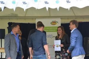 Übergabe der Auszeichnungen bei der Abschlussveranstaltung der 7. Runde ÖKOPROFIT-Mülheim an der Ruhr im Rahmen der Fair Flair 2018